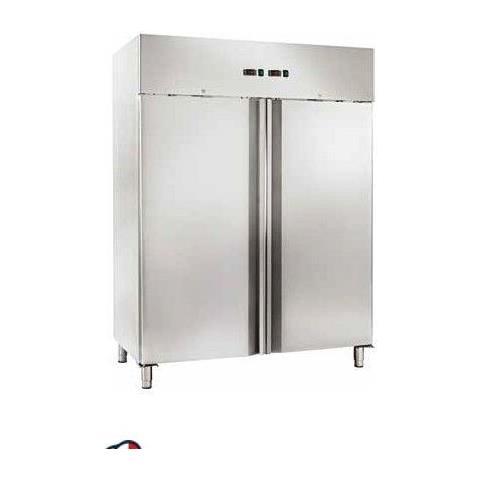 Armadio Refrigerato Ventilato Gn2/1 Acciaio Inox Doppia Porta Doppia Temperatura