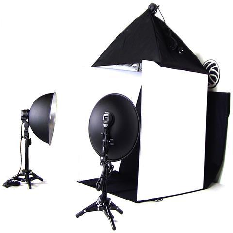 Portable Photo Studio 60 centimetri softbox e faretti