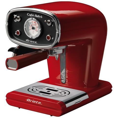 Retrò Macchina Caffè Capacità Serbatoio 0.9 Litri Potenza 900 Watt Colore Rosso