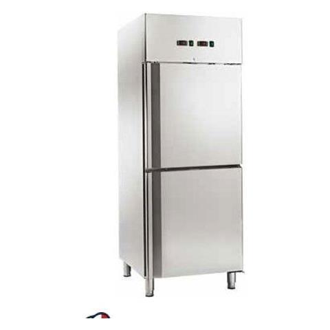 Armadio Refrigerato Ventilato Gn2/1 Acciaio Inox Doppia Temperatura