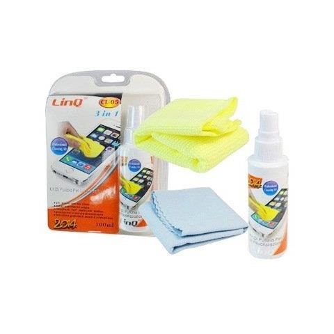 LinQ Kit per Pulizia 3 in 1 per Tablet, Smartphone, Monitor e Cellulari, iPhone, iPad, etc