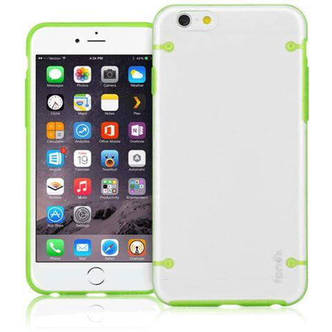 FONEX Mellow Cover in Morbido TPU per iPhone 6 Plus / 6S Plus Colore Trasparente / Verde