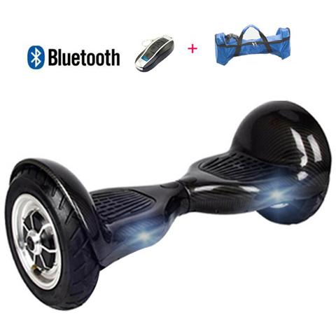 Image of 10 Pollici Hoverboard Smart Balance Monopattino Elettrico Pedana Scooter Bluetooth Due Ruote Con Batteria Samsung Carbon