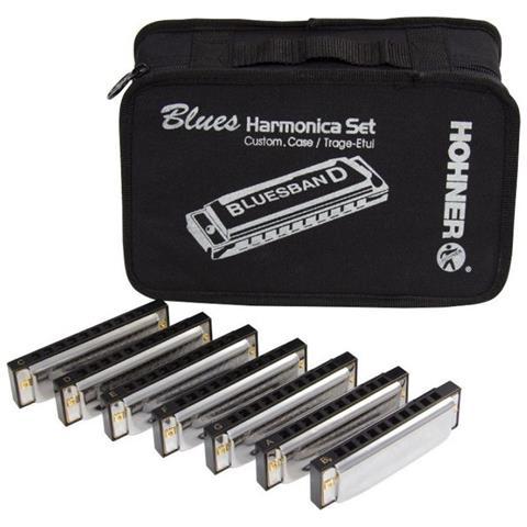 Hohner Blues Band Set 7 Armoniche Con Borsa