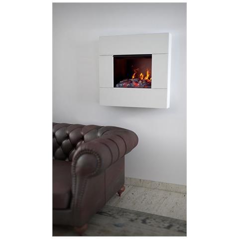 Caminetto Elettrico Ad Acqua Potenza Max. 2000 Watt Fumetto Bianco