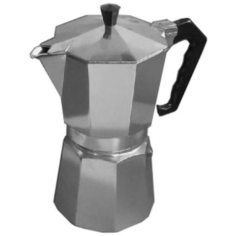 Caffettiera Moka Napoletana Caffè 6 Tazze Alluminio Grigio Guarnizione Silicone
