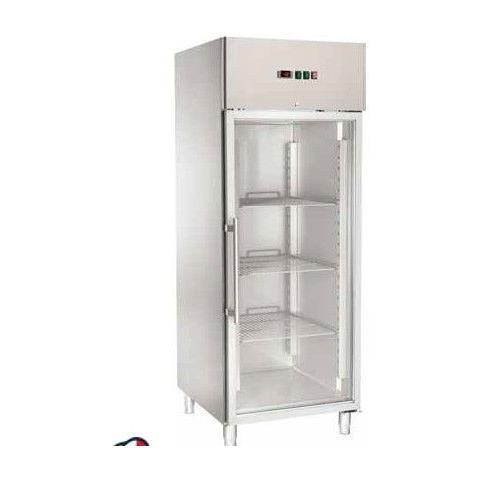 Armadio Refrigerato Congelatore Ventilato Gn2/1 Acciaio Inox -18 / -22°c Porta A Vetri