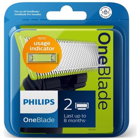 Testine Qp220/55 Confezione 2 Lame Per Oneblade / oneblade Pro
