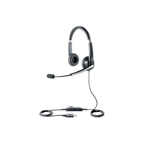 JABRA Cuffie Jabra UC Voice 550 MS Duo CavoStereo - Over-the-head - Semi-Aperto - Nero - USB - Riduzione di rumore, Cancellazione del rumore