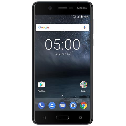 "NOKIA 5 Nero 16 GB 4G / LTE Dual Sim Display 5.2"" HD Slot Micro SD Fotocamera 13 Mpx Android Europa"