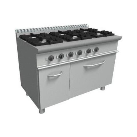 Cucina 6 Fuochi a gas con forno a gas - Dim. cm. 120x70x85h