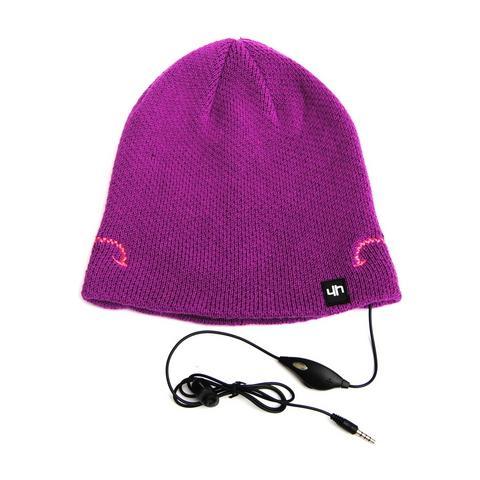 HI-FUN Hi-Head Cappellino con Speaker e microfono incorporati colore Viola