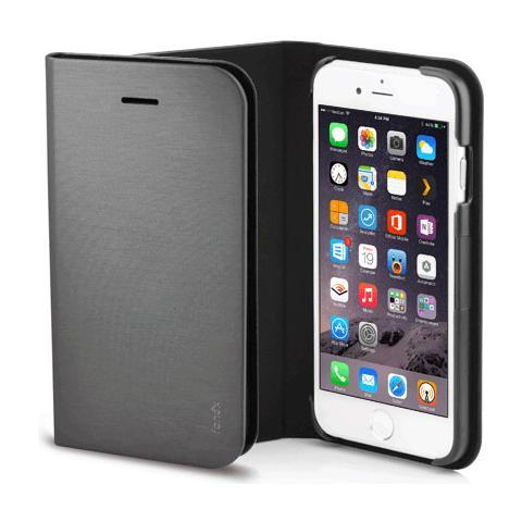 FONEX Shine Book Custodia a Libro per Iphone 6 Plus / 6S Plus Colore Grigio Scuro