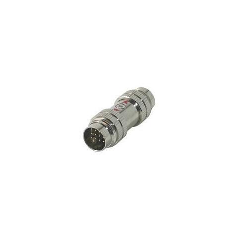 C2G RapidRun 12-pin Din (5-Coax) Coupler M / M 12-pin Din 12-pin Din Argento cavo di interfaccia e adattatore