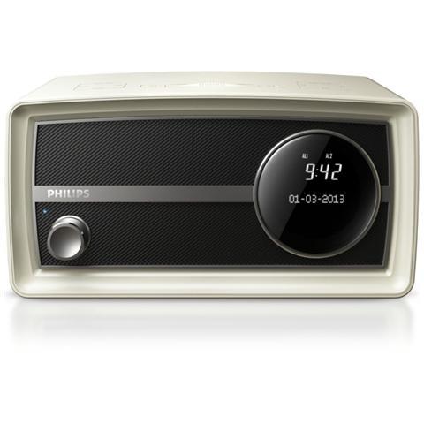 PHILIPS Radio Mini Original ORT2300B Sintonizzatore DAB+ Bluetooth ingresso Audio colore Bianco