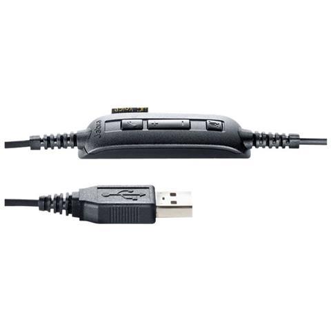 JABRA Auricolare Jabra UC Voice 250 MS CavoMono - Dietro l'orecchio - Aperto - Nero - USB - Riduzione di rumore, Cancellazione del rumore