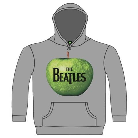 ROCK OFF Beatles (The) - Apple Grey (Felpa Con Cappuccio Unisex Tg. L)