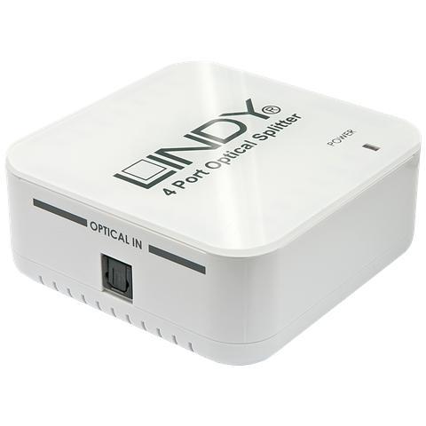 LINDY Splitter audio Toslink S / PDIF 4 porte