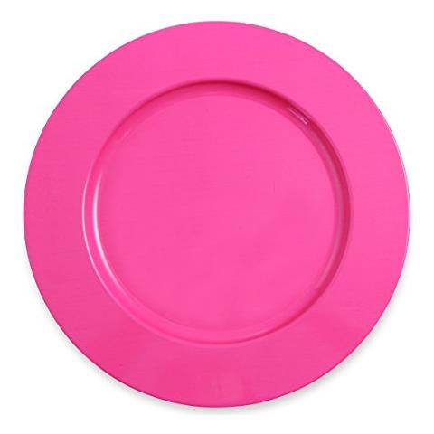 Colors Sottopiatto, Metallo, Rosa, 33x33x1.5 Cm