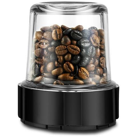 Grinder per caffè, spezie e altri alimenti per Power Titanium 1000, Power Titanium 1000 Black e Power Titanium 1250. Contenitore in vetro fuso con capacità di 500 ml. Lavabile in lavastoviglie. Grinder Power Titanium