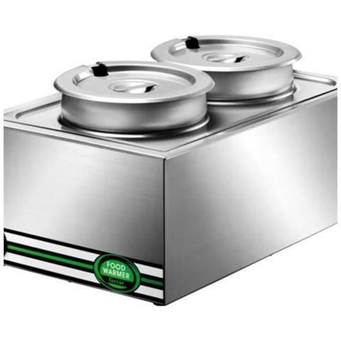 Bagnomaria Tavola Calda Riscaldata Acciaio Inox Cucina 2 Da Litri 8 Rs2815