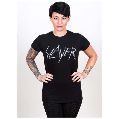 ROCK OFF Slayer - Scratchy Logo Black (T-Shirt Donna Tg. 2XL)