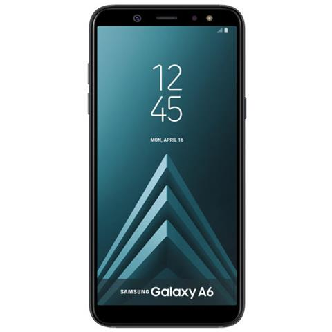 "SAMSUNG Galaxy A6 Nero 32 GB 4G / LTE Dual Sim Display 5.6"" HD+ Slot Micro SD Fotocamera 16 Mpx Android Europa"
