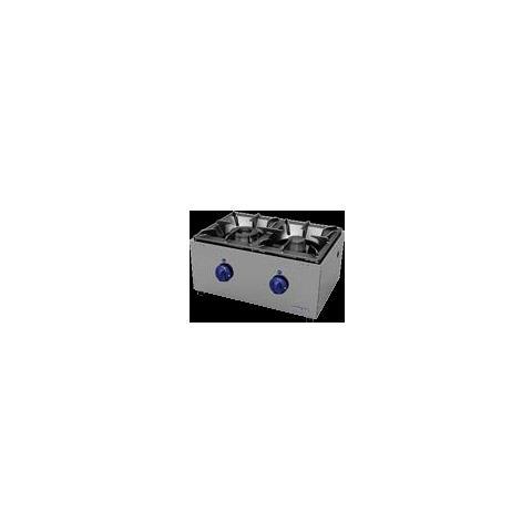 Cucina Piano Cottura Gas Fornellone 2 Fuochi Cm 59x44x30 Rs0723