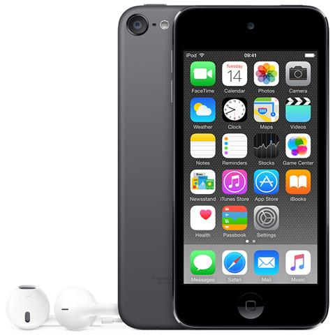 """APPLE iPod Touch 128GB Display Retina 4"""" IPS Multi-Touch Fotocamera 8Mpx con AirPlay iCloud Bluetooth / Wi-Fi Colore Grigio Siderale"""