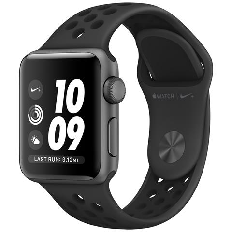 APPLE Watch Nike+ Impermeabile 5 ATM Dispaly OLED 8GB con Bluetooth e GPS per Fitness Colore Antracite Nero