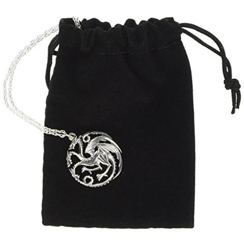 NOBLE COLLECTION Collana Game Of Thrones Pendant E Necklace Targaryen Sigil (sterling Silver)