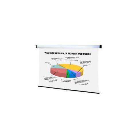 SOPAR New Spring Schermo a Muro Manuale 200X113 16:9 Tela adatta per Retroproiezione