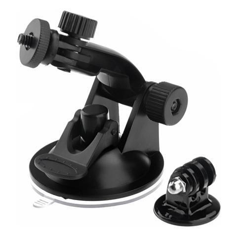 Network Shop Supporto A Ventosa Con Adattatore St-61 Per Camera Gopro Hd Hero 2 / 3 / 3+ / 4