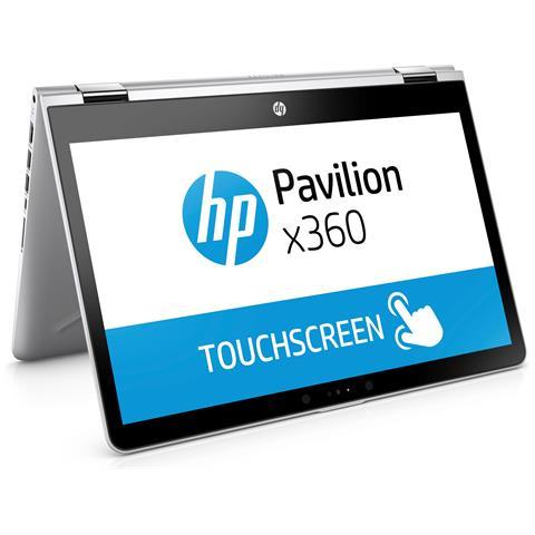 "HP Notebook 2 in 1 Pavilion x360 14-ba021nl Monitor 14"" HD Multi Touch Intel Pentium 4415U Ram 8GB SSD 128GB 3xUSB 3.1 Windows 10 Home"