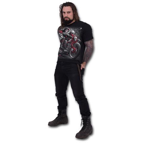 SPIRAL Dotd Bikers - Black (T-Shirt Unisex Tg. L)