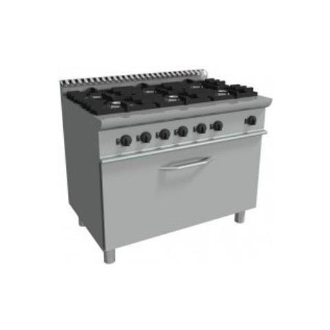 Cucina 6 Fuochi a gas con maxi forno a gas - Dim. cm. 120x70x85h