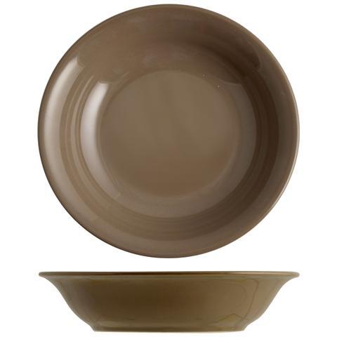 H&H Set 6 Piatto Coupe Iris Marrone Fondo 20 Tableware