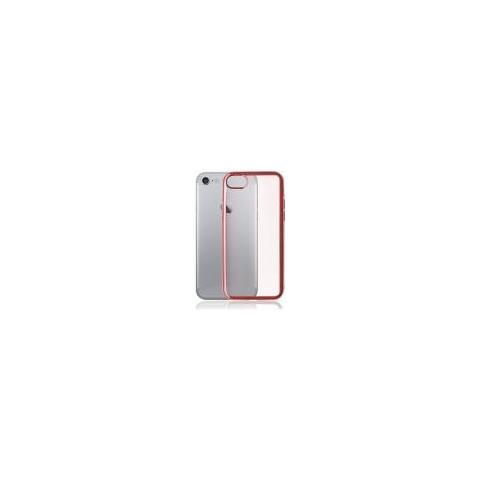 Universal Custodia Iphone 7 4.7 Tpu Satin Frame Rose Gold Con Retro Trasparente