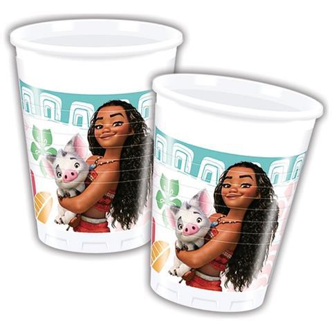 Disney Bicchieri Plastica Oceania 200 Ml, Festa Compleanno Ps 08357