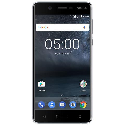 "NOKIA 5 Argento 16 GB 4G / LTE Dual Sim Display 5.2"" HD Slot Micro SD Fotocamera 13 Mpx Android Europa"