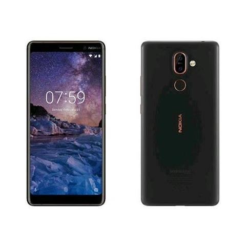"NOKIA 7 Plus Nero 64 GB 4G / LTE Display 6"" Full HD Slot Micro SD Fotocamera 12 Mpx Android Tim Italia"