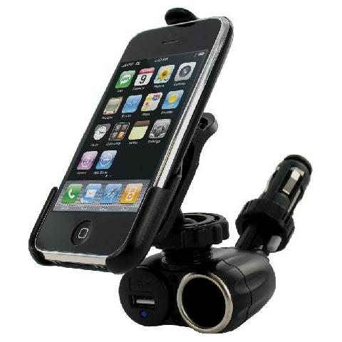 G-MOBILITY GRGMCNIPNO Auto Active holder Nero supporto per personal communication