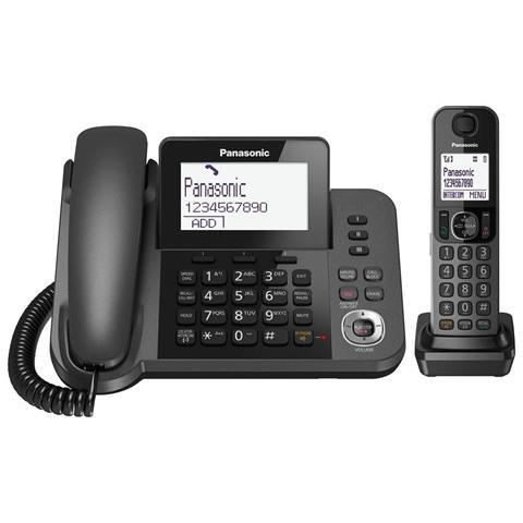 PANASONIC KX-TGF320EXM 2in1 telefono fisso con ampio display e segreteria telefonica digitale + cordless con vivavoce