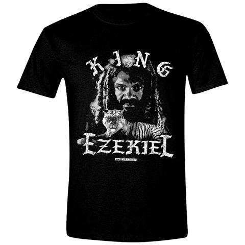 TimeCity Walking Dead (The) - King Ezekiel Grundge Black (T-Shirt Unisex Tg. M)