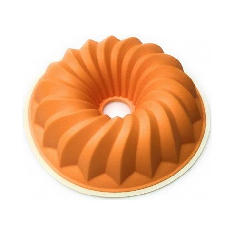 Stampo Ciambella Silicone -40 + 230° 27 Cm Bianco Arancio Linea Cupcakes Tognana