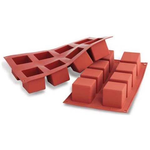 Stampo cubi 8 cavità 5x5cm classic terracotta silicone