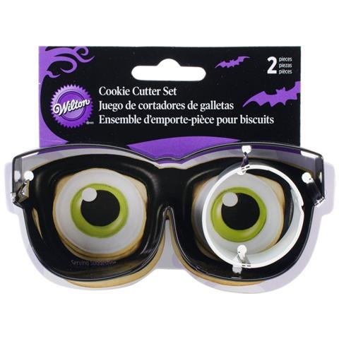Set 2 Tagliapasta In Metallo Occhiali E Bulbo Oculare