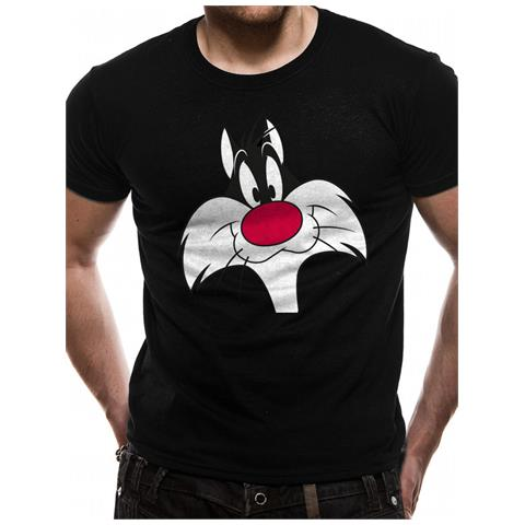 CID Looney Tunes - Sylvester Face (T-Shirt Unisex Tg. S)