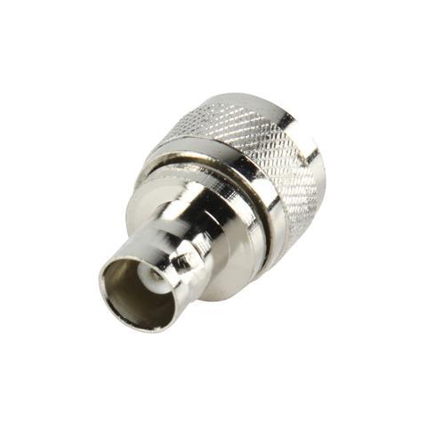 VALUELINE PL259 - BNC, M / F, PL259, BNC, Maschio / femmina, Argento, Metallo, 2,4 cm