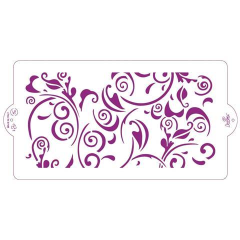 Decora® Stencil Fogliame Per Zioni Su Pasta Di Zucchero